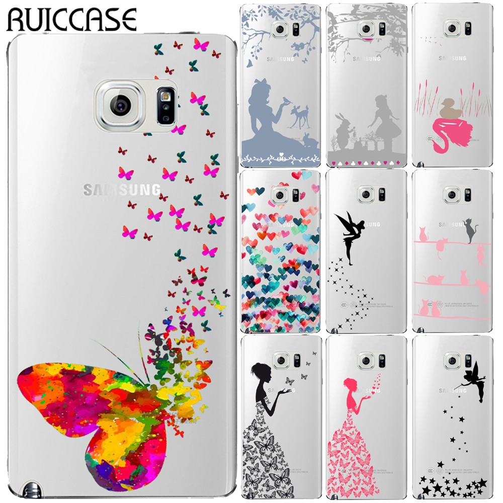 Galleria fotografica Funny Butterfly Tinker Bell TPU Case For Coque Samsung Galaxy Grand Prime J3 J5 J7 J2 Prime 2015 2016 2017 Note 3 4 5 8 Cover