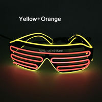 Costumi accessori el wire occhiali da sole alla moda novelty illuminazione suono attivato ha condotto la striscia di neon bicchieri per halloween decor