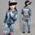 Ropa de moda de Vaquero de Los Niños del Juego de Los Niños Chicos Chicas Deportes Ropa de Béisbol de Mezclilla Unisex Carta Denim Jacket + Pants