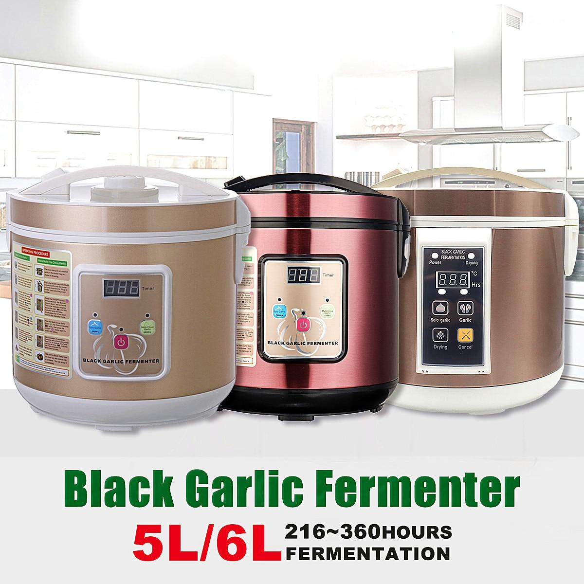 90 w 5/6L Automatico Nero aglio fermentatore per la casa FAI DA TE zymolysis pentola maker 110 v 220 v nero aglio fermentazione macchina US/AU/EU