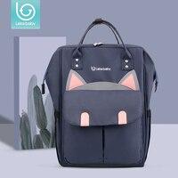 LEKEBABY Mommy Diaper Bag Large Capacity Baby Nappy Bag Designer Nursing Bag Fashion Travel Backpack Baby Care for Mother Kid