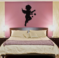 new home Wall Stickers Vinyl Decal Angel Baby Kids Romantic Decor For Bedroom free shipping