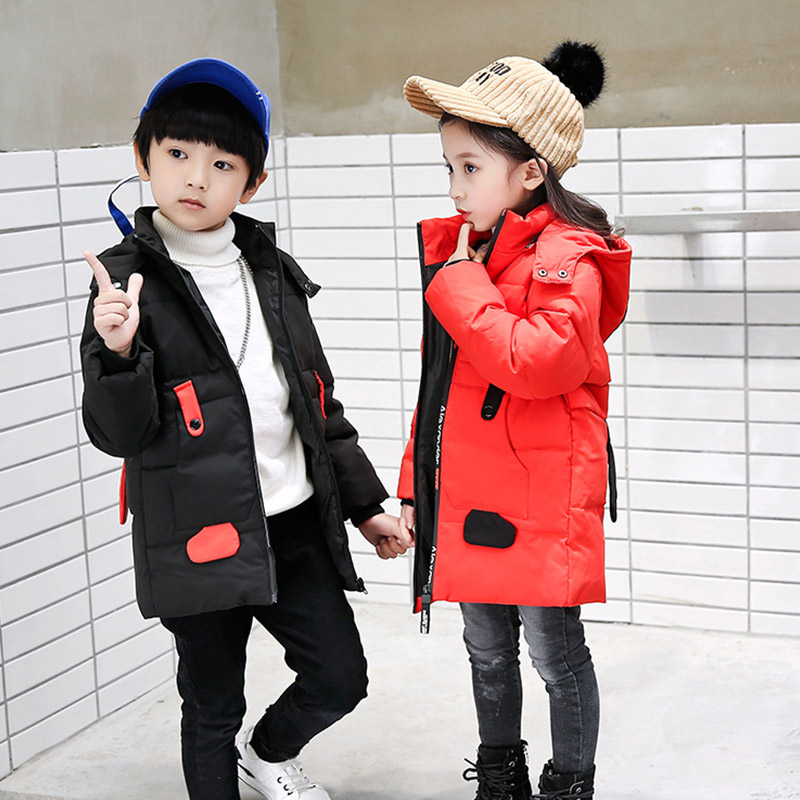 Children Winter Down Jackets Kids Duck Down Coat for Girls Baby Autumn Warm Thick Jackets Clothes Boys Hooded Coats 3-8 years xyf8831 girls kids autumn winter down jackets 80