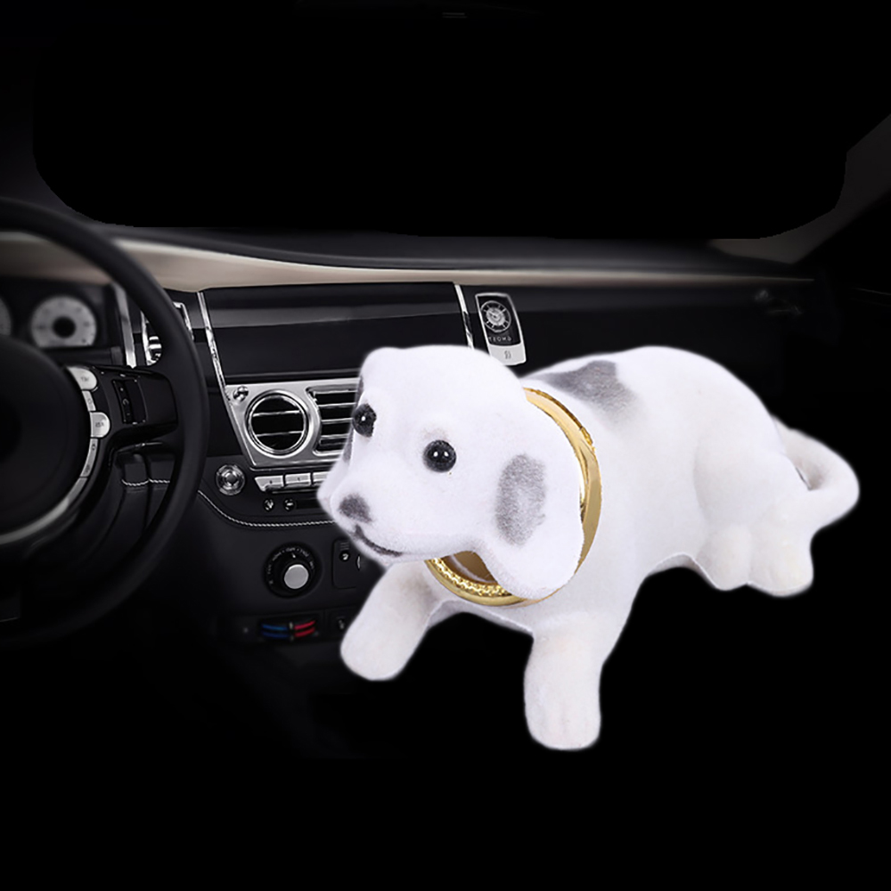 Car Ornaments Automobiles Dashboard Toys Shaking Head Dog Doll Cute Decoration Nodding Puppy Figures Auto Accessories Kids Gift