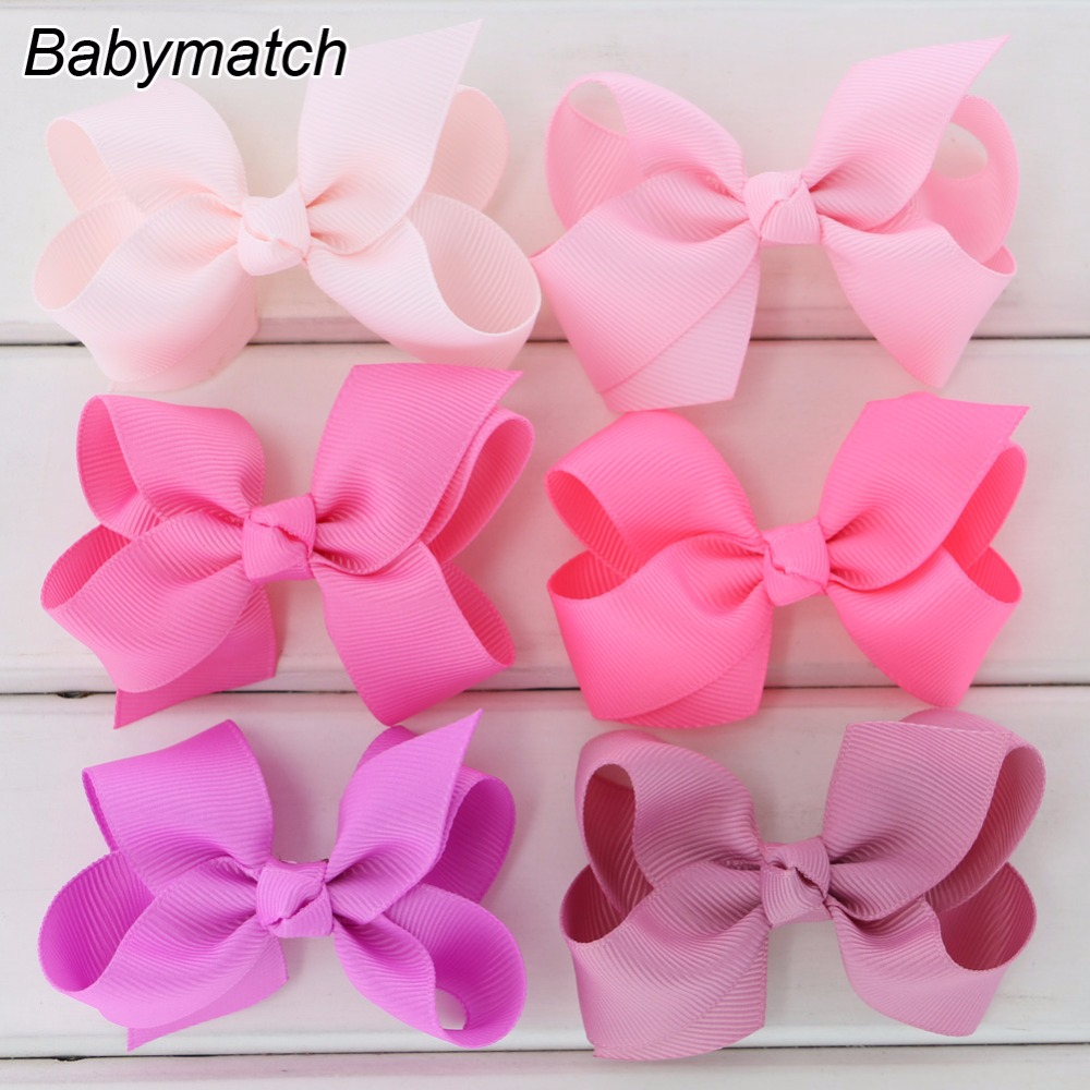 """White 3.3/"""" butterfly boutique grosgrain bow DIY hair bows"""