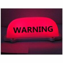 12V DIY Red LED car warning top Lamp Driving road Truck Warning light with Magnetic base danger for truck
