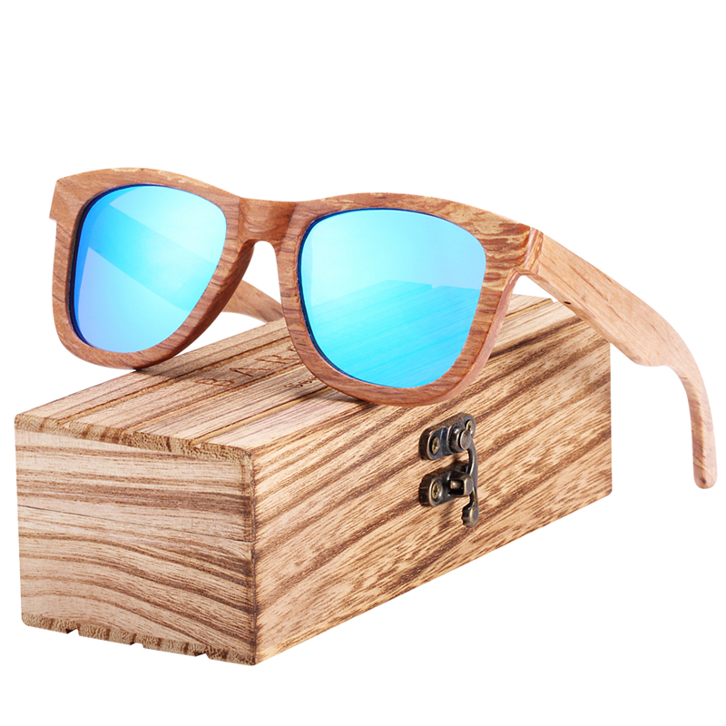 BARCUR Natural Wooden Sunglasses for Men Women Polarized Wood BC8215