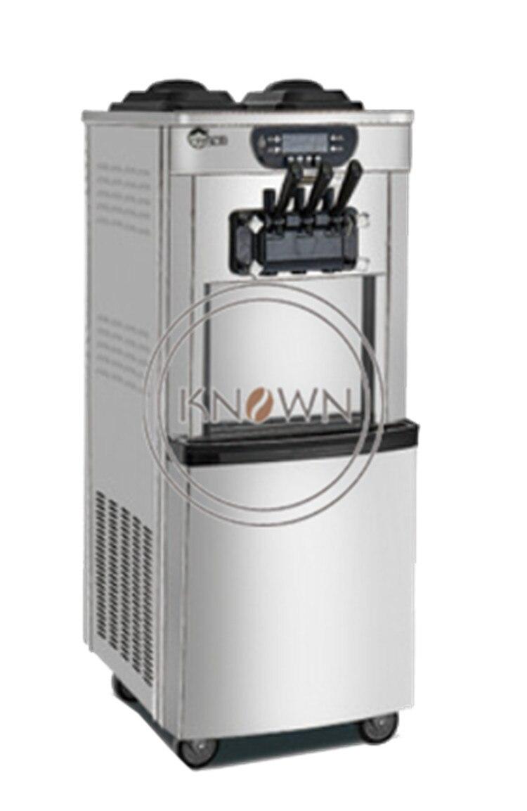 Sistema de refrigeración Dual 3 sabores máquina de hacer helados