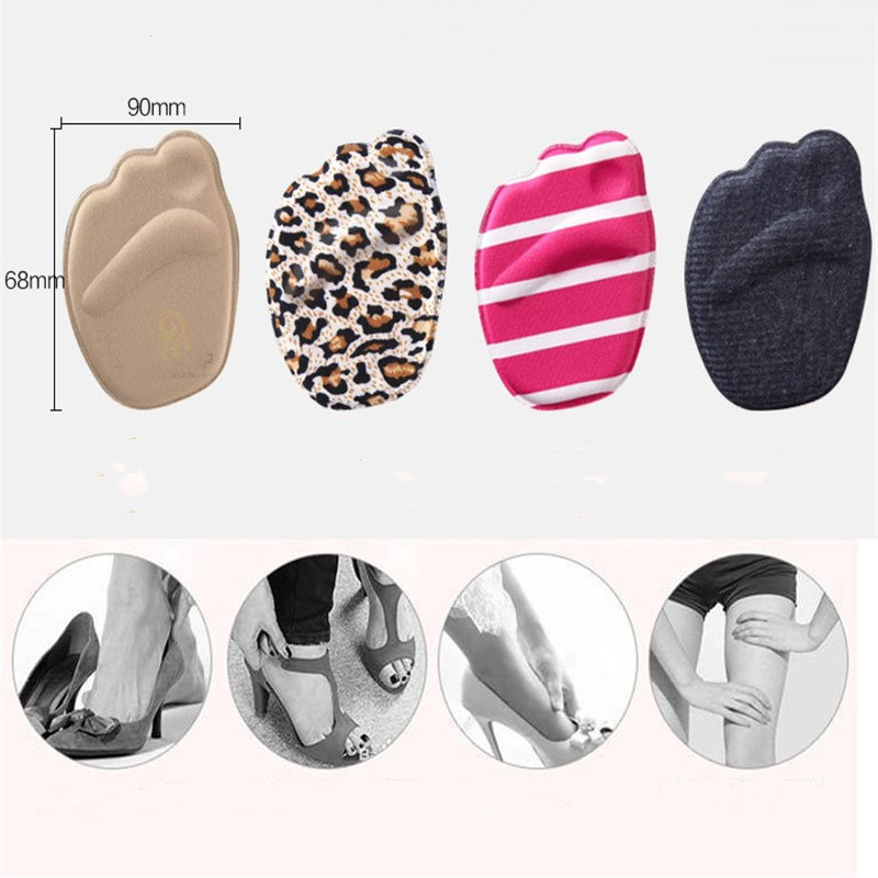 Forefoot Insoles Shoes Sponge Pads High Heel Soft Insert Anti-Slip Foot Protection Pain Relief Women Shoes Insert Cushion 1pc