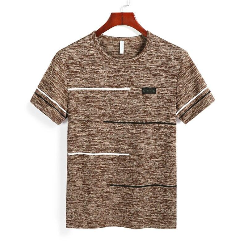 9XL Summer T shirts Men Clothing Polyester Plus Size 5XL 6XL 7XL 8XL Male Tshirts Breathable Short Sleeve Strip Top Tees O-Neck 03