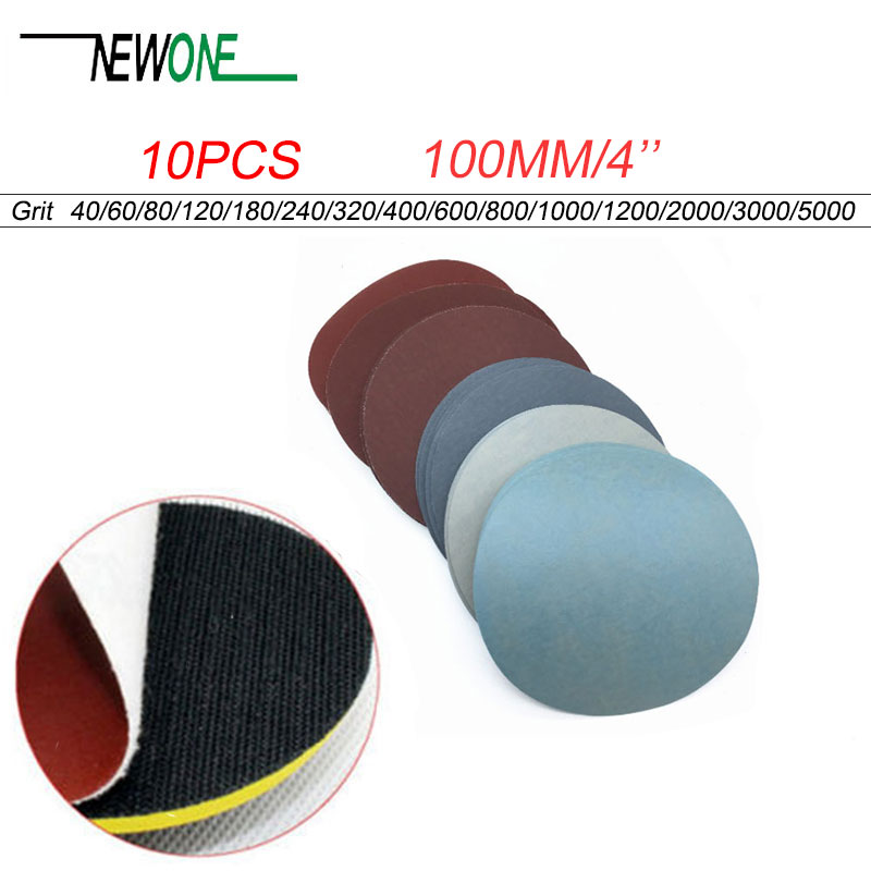High Quality 10pcs 4inch 100mm Round Sandpaper Disk Sand Sheets Grit #40 - #7000 Hook And Loop Sanding Disc For Sander Grits NEW