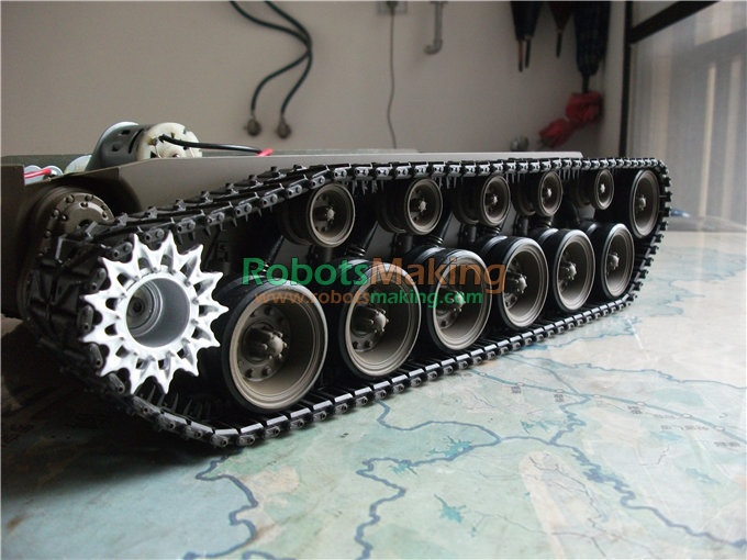 Super large robot Track Chassis smart car chassis large crawler chassis new generation with motor doit cool and new 6wd robot smart car chassis big load large bearing chassis with motor 6v150rpm wheel skid diy rc toy