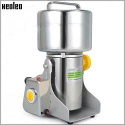 XEOLEO Electric Grinder Mill Grain grinder Grains grinder 304# Stainless steel 250g medicine flour powder crusher 1800W 110/220V