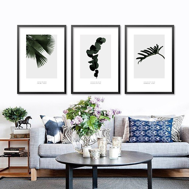 Nordic Tropical Plants Art Canvas Poster Prints Cactus On Canvas, Wall  Pictures For Living Room