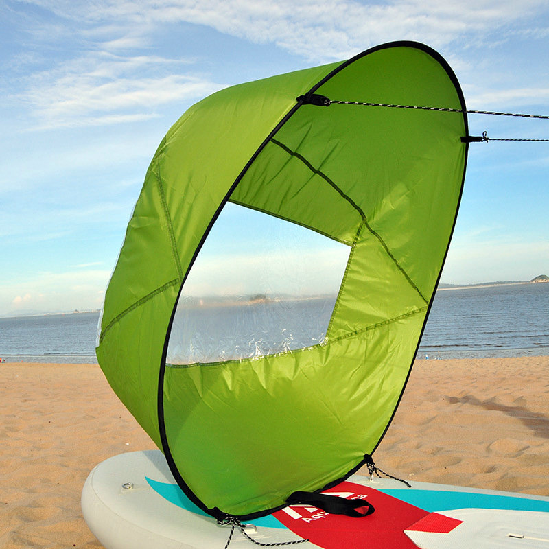 """42/"""" GREEN Kayak Sail Downwind Wind Paddle Popup Board Wind Sail Accessories"""