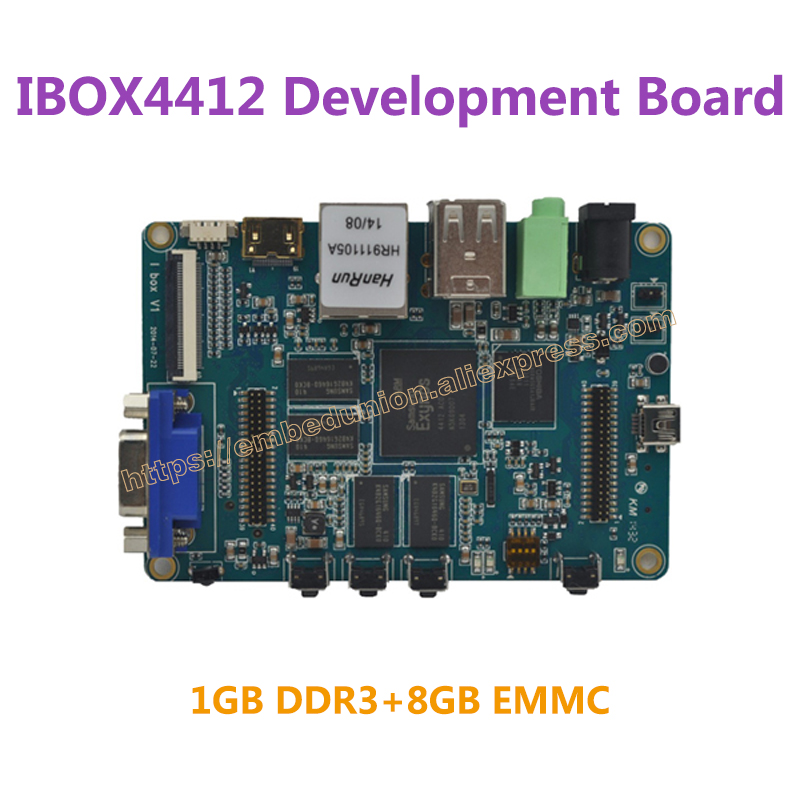 Ibox4412 Development Board Exynos4412 ARM Cortex-A9 Quad Core 1.5GHz 1GB DDR3 8GB EMMC fast free ship for pcduino8 uno 8 nuclear development board h8 8 core arm cortex 7 2 0ghz development board exceed raspberry pi
