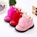 2016 Moda Botas de Inverno Para Crianças Sapatos de Bebê Botas De Neve Meninas Crianças Algodão-Acolchoado de Pelúcia Botas Quentes Tornozelo Prova D' Água sapatos