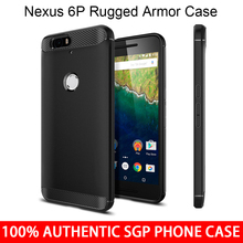 Aliantech Huawei Nexus 6P Case Original SGP Rugged Armor SGP11797 Soft TPU Drop Resistance Back Cover Case for Google Nexus 6P