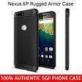 Huawei Nexus 6 P rugosa Original Spigen armadura de TPU suave resistencia a caídas caso de la contraportada para Google Nexus 6 P