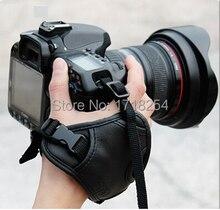 Камера Черная Кожа Мягкая Ремешок/Рукоятки для Canon 600D 700D 650D 70D D750 Nikon D5200 D3200 D90 D610 SLR/DSLR