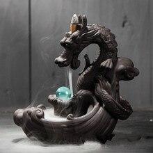 Best Ceramic Backflow Incense Burner Creative Home Decor Incense Censer Dropshipping 19 Kinds Dragon Holder Tea Pet E $