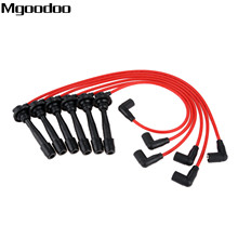 Mgoodoo 6Pcs Ignition Cable Spark Plug Wire + 2Pcs 7mm Clips Fittment For Mitsubishi Eclipse Galant