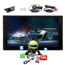 100% New Android 4.4 Car Radio 2 din Car PC Player GPS Car audio Stereo video No-DVD Free Map+Free Camera+mirror link auto car