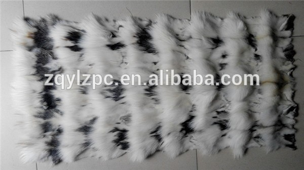 100% véritable plaque de fourrure de renard naturel/couverture de fourrure de renard