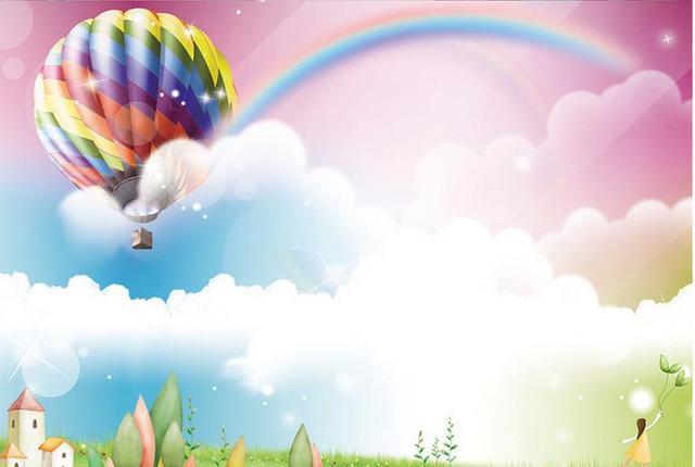 Living Children S Room Tv Background 3d Mural Wallpaper Rainbow Park