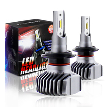 2pcs H7 LED Headlight Bulb H4 Hi/Lo ZES Chips LED 9005 9006 H8 H9 H11 Diodes LED Bulbs For Automobile Light LED Car Headlight