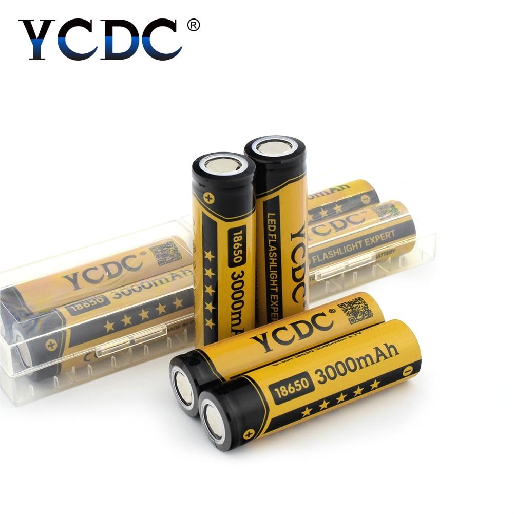 2PCS-20PCS Li 18650 Battery Rechargeable batteries 3000maH bateria 18650 Rechargeable 18650 Battery 3.7v Li-ion for flashlight ...
