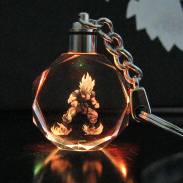Dragon Ball Super Saiyan LED Key Chain