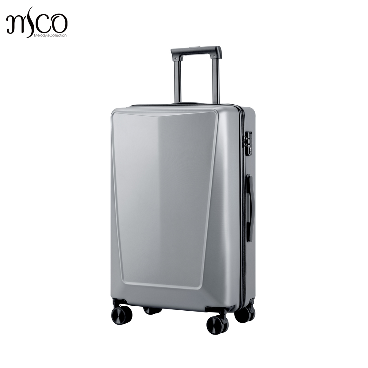 Just Star 3D Solid 6 Classic Color 100% PC Spinner TAS Alloy Trolley Suitcase Men Tote T ...