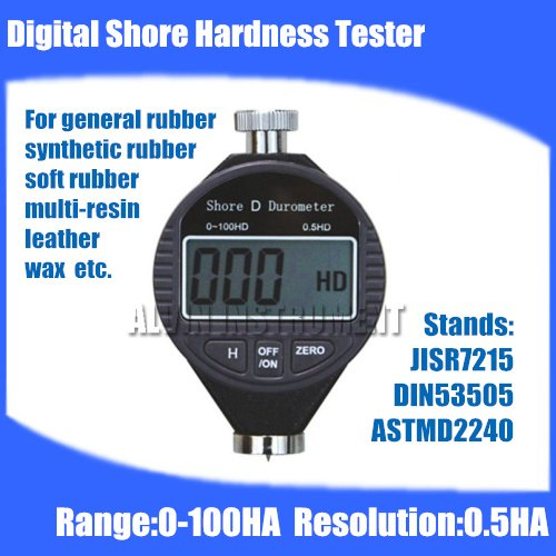 Free shipping Digital Shore Hardness Tester Meter Rubber shore Durometer Type A  Red carrying case brand new professional digital lux meter digital light meter lx1010b 100000 lux original retail package free shipping
