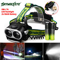 SKYWOLFEYE XML T6 LED Headlamp Headlight 1000Lm USB Rechargeable Zoomable Outdoor Head Light Lamp + 18650 Battery & USB Cable