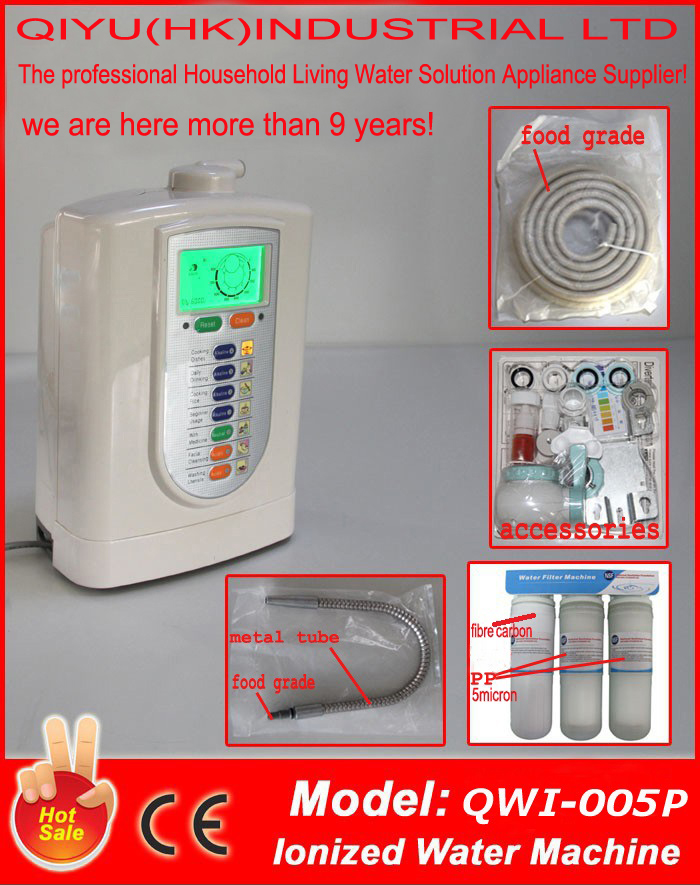 US $370 0 |FreeShip Alkaline ionizer/electrolyzed reduced water/hydrogen  water(JapanTechTaiwan factory)built in NSF filter+3stage prefilter-in Water