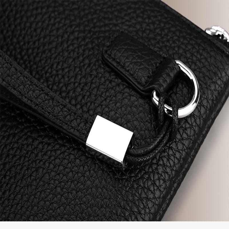 Ipad En Pl169 Support D'ipad Simple Pochette Véritable Conception Cuir Mode Embrayage Noir Williampolo 0ynwvNOm8
