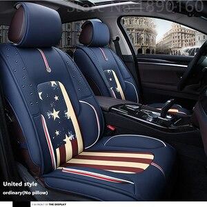 Image 4 - (Voor + Achter) speciale Lederen Auto Seat Cover voor Jac Alle Modellen Rein seat cover 13 s5 faux s5 auto auto auto accessoires styling