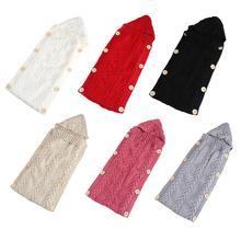 цены на Newborn Baby Sleeping Bag Cotton Knit Envelope Swaddle Wrap Infant Boys Girls Winter Stroller Sleep Sack Toddler Sleeping Bags  в интернет-магазинах