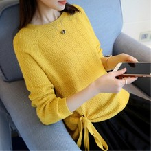 Fashion Woman Autumn New Sweaters O-neck Loose Pull for Young Regular Casual Basic Women