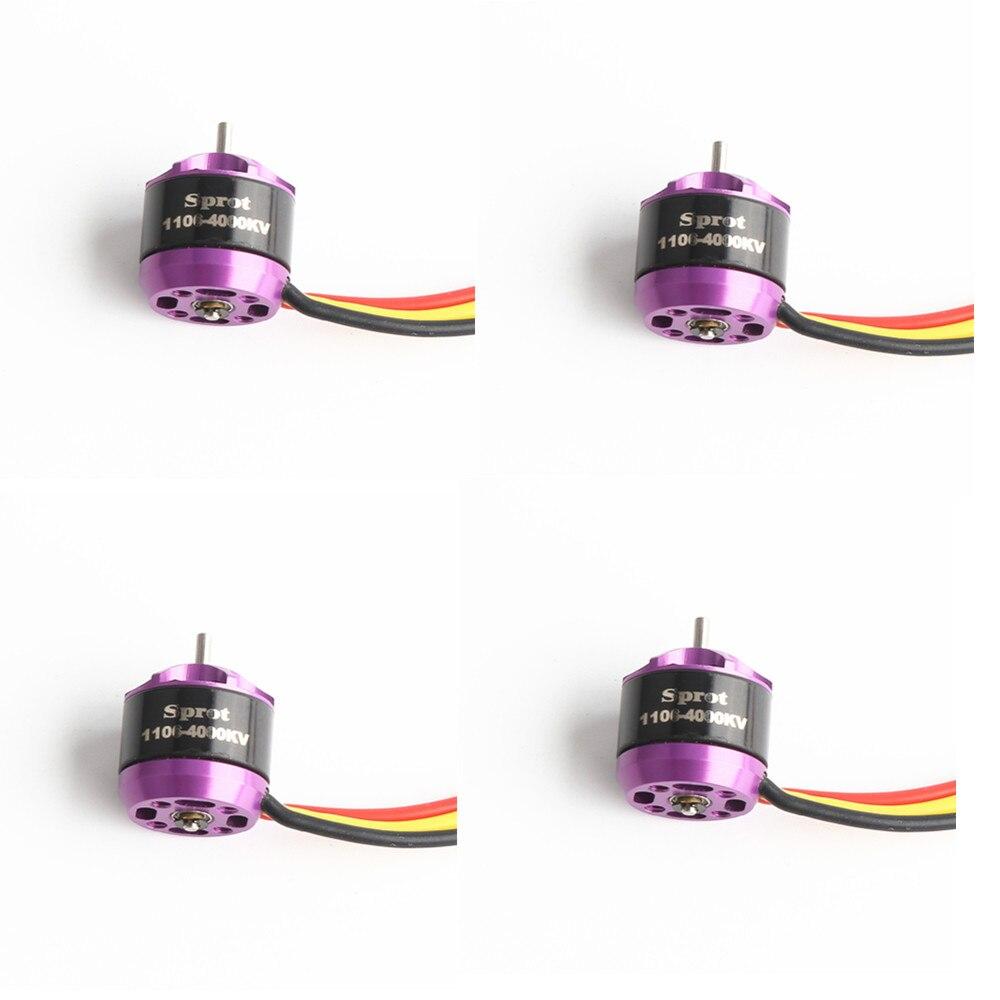 4 pièces RC1106 4000KV Micro moteur sans brosse pour Mini Multirotor 100-150mm kit de cadre