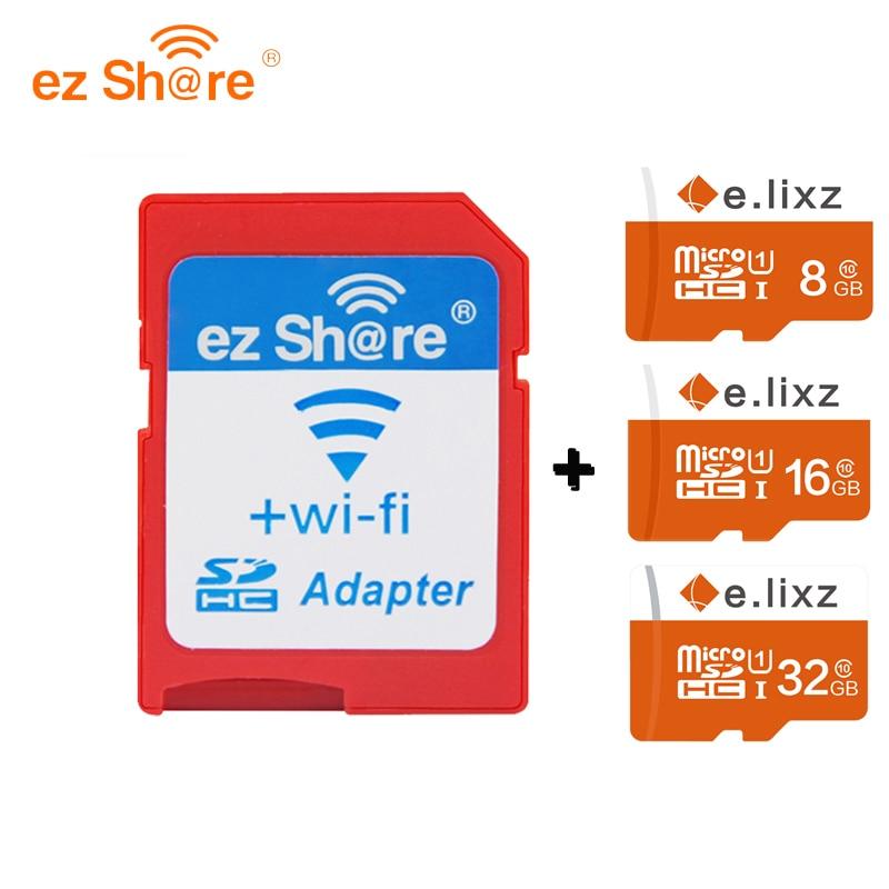 Free shipping ez Share Micro SD Adapter Wifi Wireless 8G 16G 32G Class 10 Memory Card TF MicroSD Adapter WiFi Cartao de memoria ezshare high speed wireless wifi wlan sd card adapter micro ez share sd card to sd wifi adapter 8gb 16gb 32gb tf card