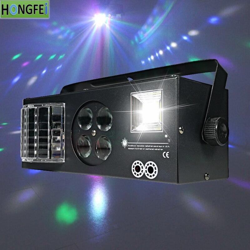 Strobe+beam+Laser+pattern 4in1 Effect Light Family Gathering KTV Leisure 4in1 Super Effect Light