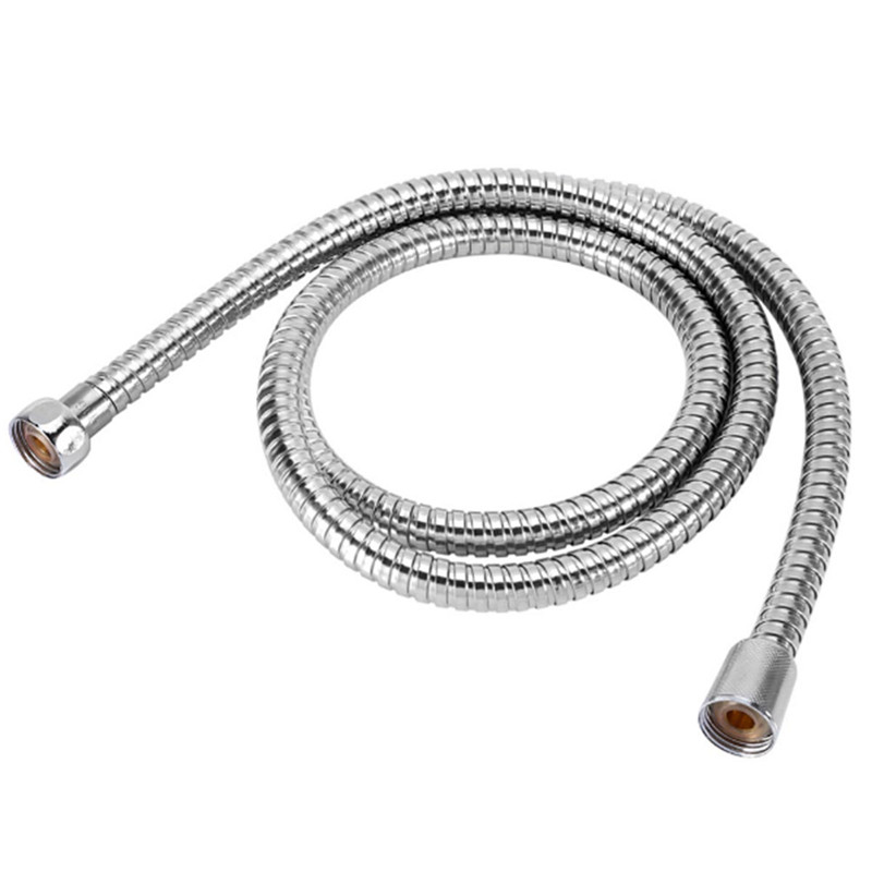 1PC Stainless Steel hose 1.2m/1.5m/2m Shower Hose Flexible Bathroom Water Pipe Silver Color Common Pumbing Hoses stainless steel contemporary style shower water hose silver 1 5m