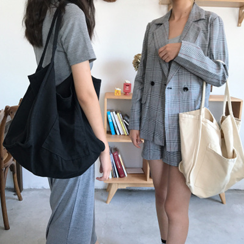2018 new style canvas bag women's fashion shopping bag casual large-capacity diagonal shoulder bag