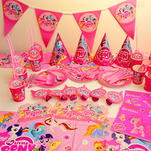 91pcs My Little Pony Birthday Decoration Set Theme Party Favor Event
