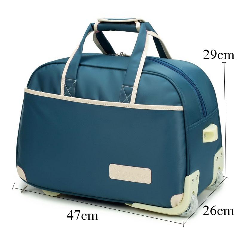 482fba7c9b9a1 Yeni Sıcak Moda Kadın Arabası Bagaj Haddeleme Bavul Marka Casual Stripes  Haddeleme Durumda Tekerlekler üzerinde Çanta