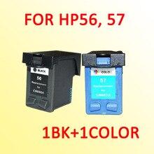 2x картридж для hp56 hp57 для hp 56 56xl 57 57xl 5160 5550 5650 5652 9600 9650 9680 450Ci/450Cbi/450wbt