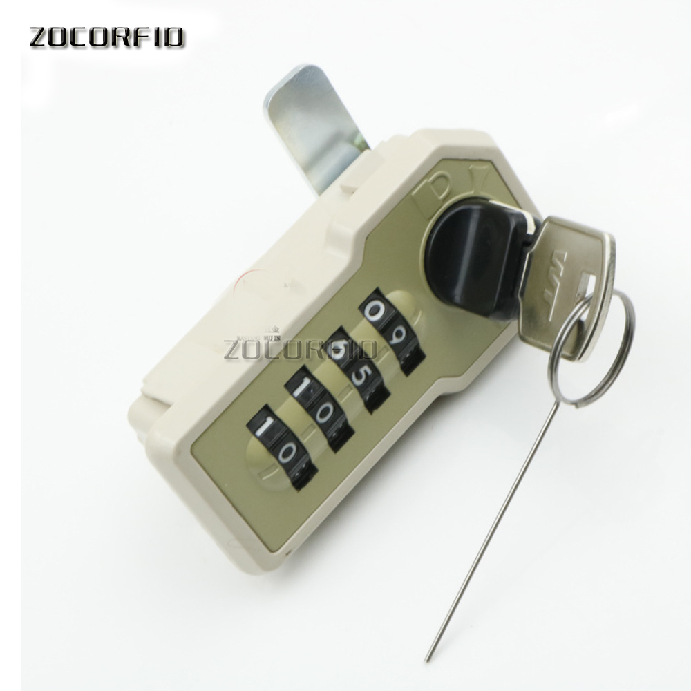 No power4bit number MINI combination lock, store password lock, machinery, no power supply+key+pointer panlongic 16mm 735 s1601 type 250v 1a electronic lock key switch phone lock double pull power supply lock power lock