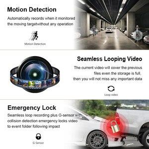"""Image 5 - Voiture Dash Cam 4 """"HD 1080P enregistreur de conduite 170 degrés grand Angle Vision nocturne voiture DVR véhicule double lentille caméra de tableau de bord g sensor"""